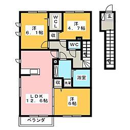 仮)D−room横地[2階]の間取り