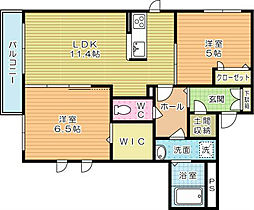 メゾンケイA棟[2階]の間取り