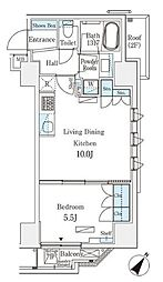 JR総武本線 馬喰町駅 徒歩4分の賃貸マンション 9階1LDKの間取り