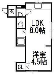 ロイヤルハドソン[2階]の間取り