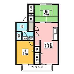 セゾンブローニュ[1階]の間取り