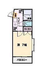 SST湘南台[203号室]の間取り