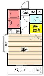東京都武蔵野市境南町4丁目の賃貸アパートの間取り