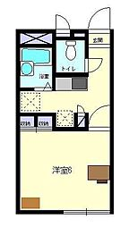 レオパレスMIURA[1階]の間取り