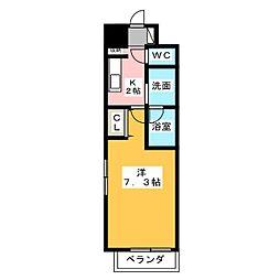 愛知県名古屋市名東区社口2の賃貸マンションの間取り