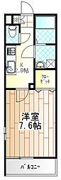 神奈川県相模原市南区東林間2の賃貸マンションの間取り