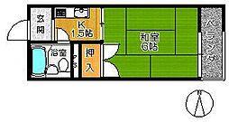 桃太郎マンション[B309号室]の間取り