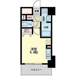 パシフィックレジデンス神戸八幡通[1205号室]の間取り