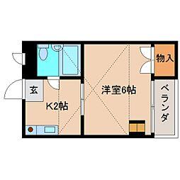 奈良県大和高田市三和町の賃貸マンションの間取り