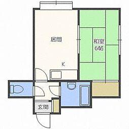 パステル東麻生[2階]の間取り