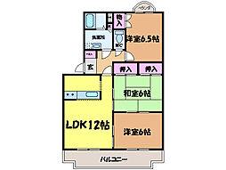 愛媛県松山市今在家2丁目の賃貸マンションの間取り