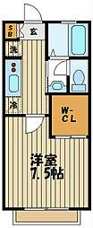 メゾンドカナルC[1階]の間取り
