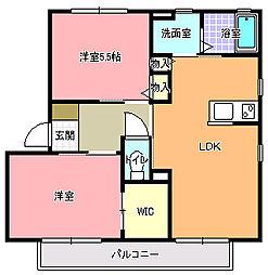 メゾン・シャルム M棟[2階]の間取り