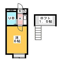 コスモ21NRSエイト[2階]の間取り