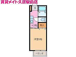 毎寝住人[2階]の間取り