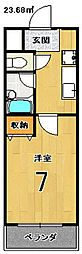 エクシード円町[302号室]の間取り