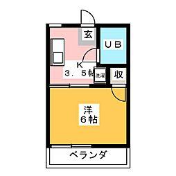 コーポしんゆう[2階]の間取り