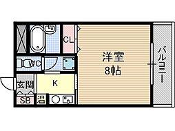 パインハウス[4階]の間取り