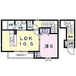 東京都西東京市下保谷4丁目の賃貸アパートの間取り