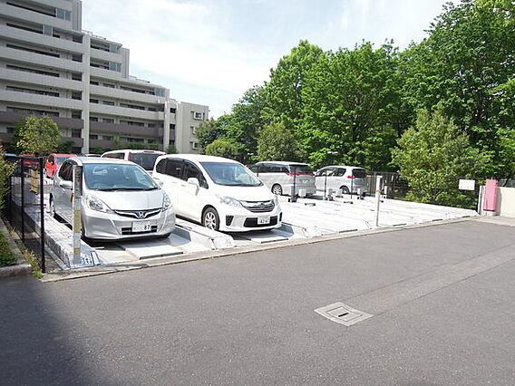 平置きの駐車場...