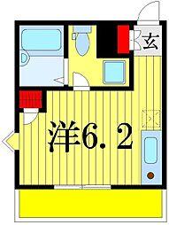 東京都葛飾区高砂5の賃貸アパートの間取り
