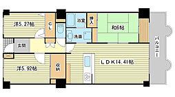 兵庫県姫路市増位新町1丁目の賃貸マンションの間取り