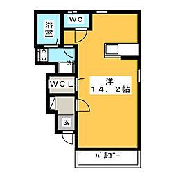 サニーサイド岡Ⅱ[1階]の間取り