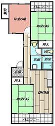カーサ矢野[1階]の間取り
