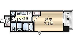 レジュールアッシュ福島フィーノ[6階]の間取り