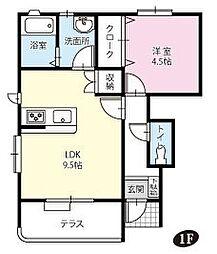 ドリームシオン[1階]の間取り