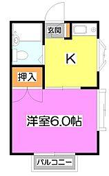 コーポ根岸台[2階]の間取り