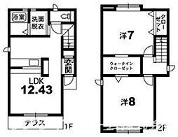 [一戸建] 徳島県徳島市春日2丁目 の賃貸【/】の間取り