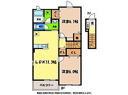 コッティNARUTO[2階]の間取り