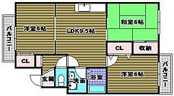 七々色ハイツ[2階]の間取り