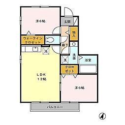 愛知県名古屋市千種区光が丘2丁目の賃貸マンションの間取り
