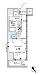 東京メトロ丸ノ内線 茗荷谷駅 徒歩4分の賃貸マンション 9階1Kの間取り