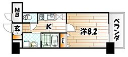 MDIプロスコルディア黒崎駅前[4階]の間取り