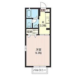 シャルム・コート高橋B[2階]の間取り