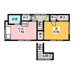 千葉アパート[2階]の間取り