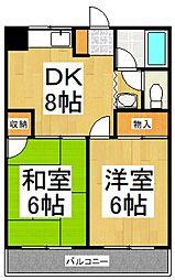 サンコート栄城[1階]の間取り
