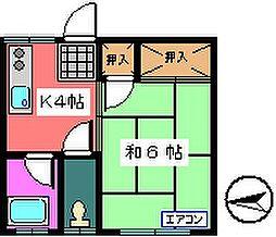 ハイツ福寿草[8号室号室]の間取り