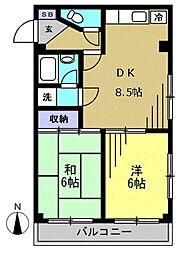 クレールハイツ[305kk号室]の間取り