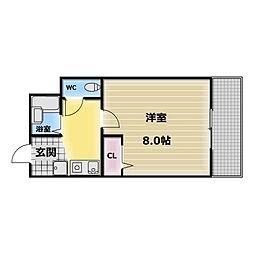 ロンモンターニュ小阪[2階]の間取り