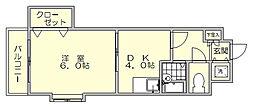 クロスステージ博多駅前[11階]の間取り