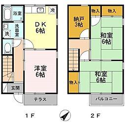 [テラスハウス] 広島県広島市南区向洋新町1丁目 の賃貸【/】の間取り