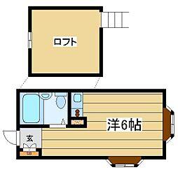 東京都荒川区町屋7丁目の賃貸アパートの間取り