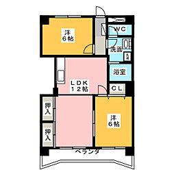 第2エトワール[4階]の間取り
