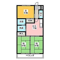 ドミールアオキ[3階]の間取り