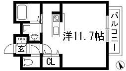 ベル花屋敷[1階]の間取り
