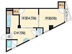 セキスイマンション[4階]の間取り